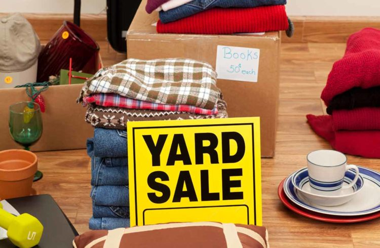 Plan a Yard-sale before you move